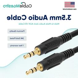 """3.5mm AUX Cable Audio Headphone Male to Male 1/8"""" Stereo Cor"""