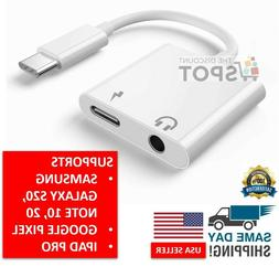 Charger and Headphone 2 in 1 USB Type C to 3.5mm Aux Audio C
