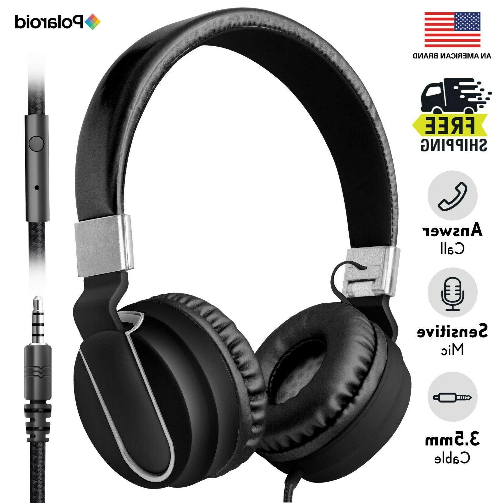 Art+Sound Metallic On-Ear Wired Headphones with Built-In Mic + Foldable