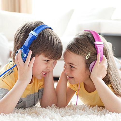 JLAB Wired Headphones | | Limiting | for Children | GUARANTEED FOR Blue