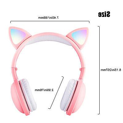Cat Ear Bluetooth Audio Wireless Headsets For Girls