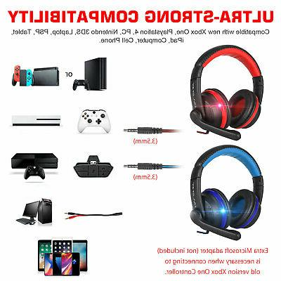 Ergonomic Gaming Headset Stereo Sound for PS4 Cell Phone