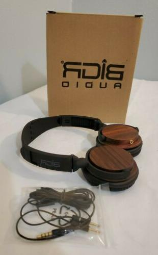 headphones wood wired comfortable soft on