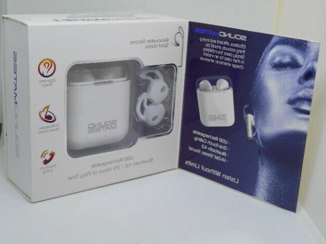 New Sound Mates Bluetooth Wireless With Case