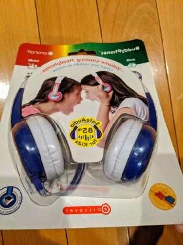 NEW BuddyPhones Wired Audio for BLUE