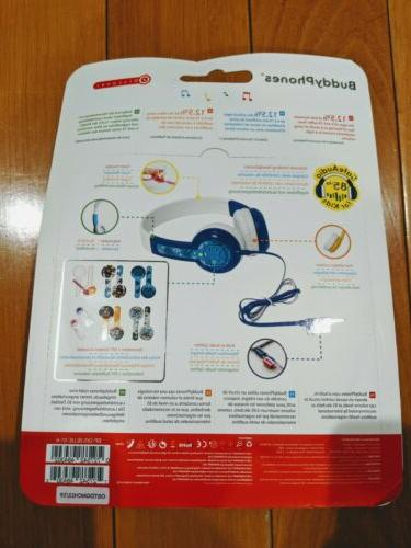 NEW Wired Kids Headphones Audio for Age BLUE