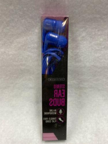 noise isolating ear buds blue high quality