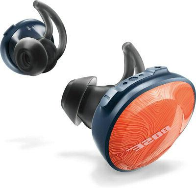 soundsport free truly wireless headphones bright orange