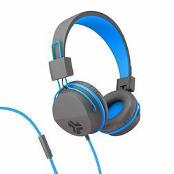 New JLab Neon On Ear Foldable Tangle Free Headphones Blue an
