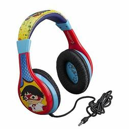 New 2020 Kids Ryan's World Wired OnEar Headphones - Red/Blue