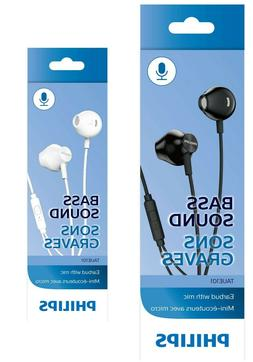 Philips TAUE101 Wired Headphones Earbuds with Microphone wit