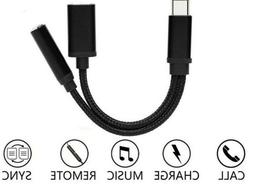 Type C to 3.5 mm and Charger Headphone 2 in 1 Audio Jack USB