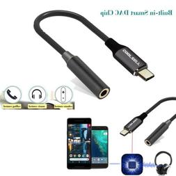Type C to 3.5mm Aux Audio Jack Earphone Headphone Cable Adap
