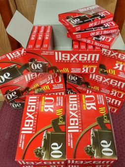 Maxell UR90 Blank Audio Cassette Tapes Pack of 10 Normal Bia