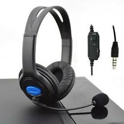 Wired Gaming Low Sound Over-Ear Headset Headphones with Micr