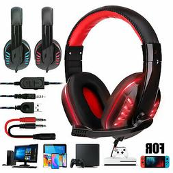 Stereo Sound LED Gaming Headset Noise Canceling Headphone w/